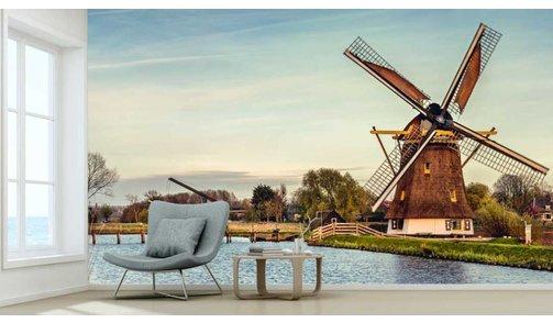 Selbstklebende Fototapete angepasst - Mühle 't Hoog- en Groenland