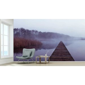 Mural im Nebel