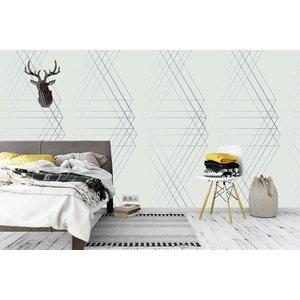 Photo Wallpaper Line Geo Light Design