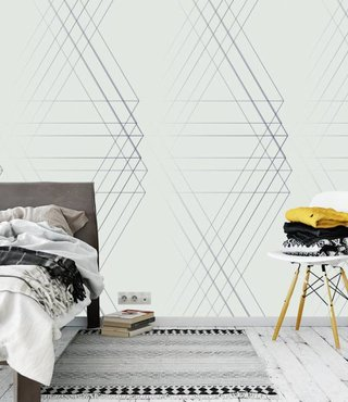 Photo Wallpaper Line Geo Light Design