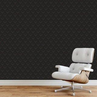 Zelfklevend fotobehang op maat - Retro Zwart