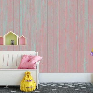 Photo Wallpaper Wood Pastel Pink