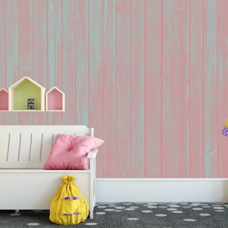 Self-adhesive photo wallpaper custom size - Wood Pastel Pink
