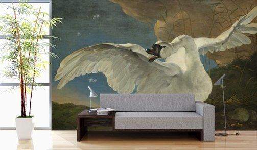 Self-adhesive photo wallpaper custom size - Threatened  Swan