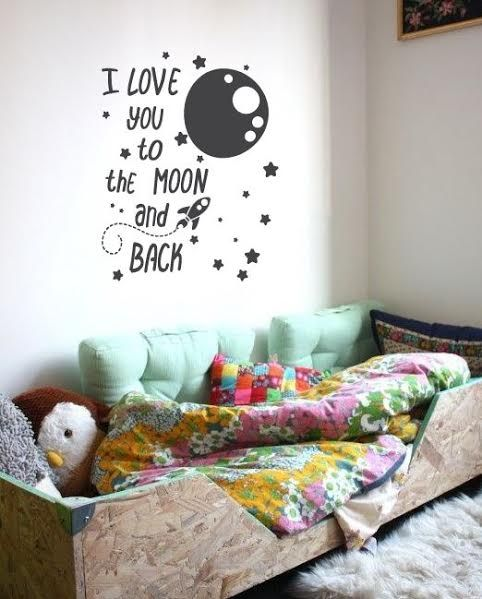 Wall Sticker I Love You To The Moon And Back Walldesign56 Wall Decals Murals Posters