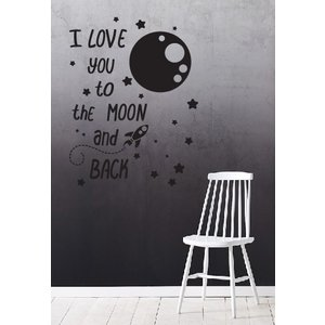Muursticker I love you to the moon and back