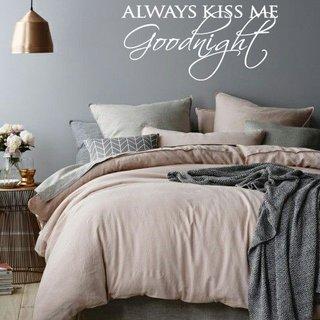Wandaufkleber -  Küss mich immer gute Nacht