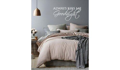 Wall Sticker - Always Kiss Me Goodnight