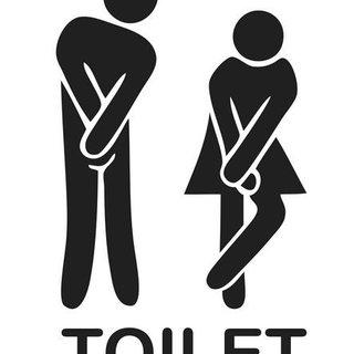 Wandaufkleber - WC