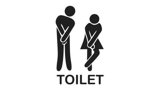 Muursticker - Toilet