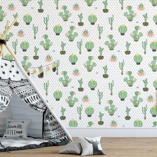 Zelfklevend fotobehang op maat - Cactus Dreams