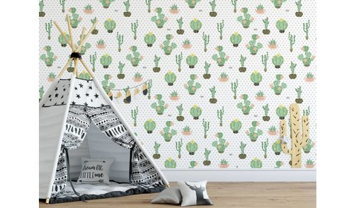 Self-adhesive photo wallpaper custom size - Cactus Dreams