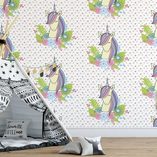 Zelfklevend fotobehang op maat - Eenhoorn