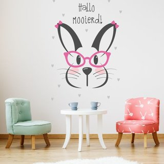 Wallsticker Rabbit - Hello Beautiful
