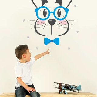 Wallsticker Rabbit - Hello Handsome
