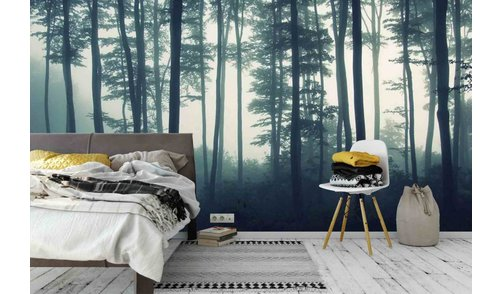 Self-adhesive photo wallpaper custom size - Forest in the Mist