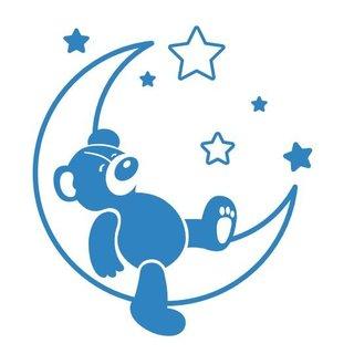 Wandaufkleber - Sweet Dreams Teddybär