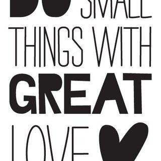 Wandaufkleber - Haben Kleine Dinge mit großer Liebe