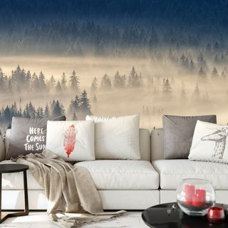 Self-adhesive photo wallpaper custom size - Foggy Forest