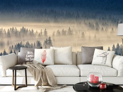 Wall mural Foggy Forest