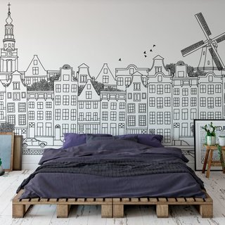 Selbstklebende Fototapete angepasst - Amsterdam