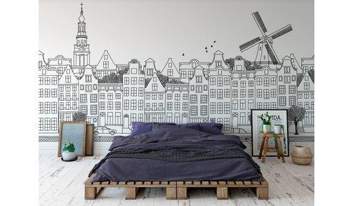Fotobehang Amsterdam
