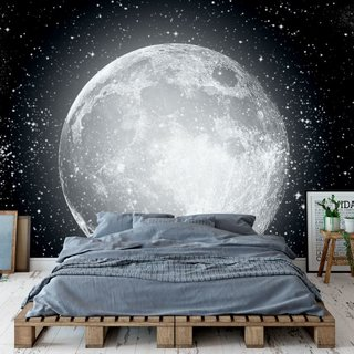 Self-adhesive photo wallpaper custom size - Moon
