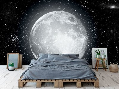 Wandtapete Mond