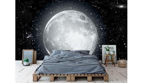 Self-adhesive photo wallpaper custom size - Moon