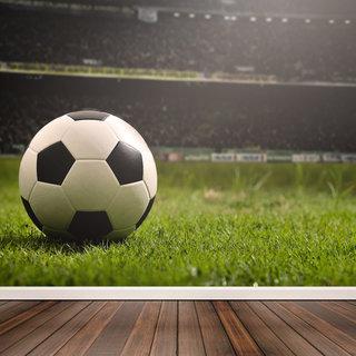 Selbstklebende Fototapete angepasst - Fußballfan