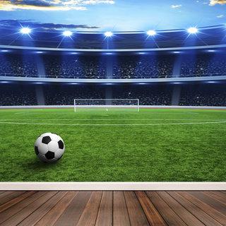 Selbstklebende Fototapete angepasst - Fußballstadion