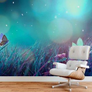 Selbstklebende Fototapete angepasst - Schmetterling