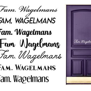 Door Sticker family name