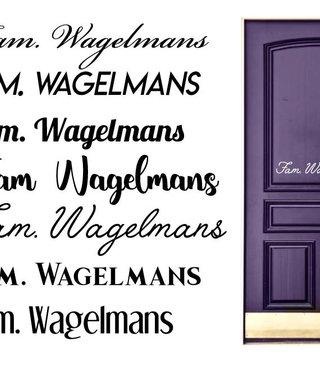 Door Sticker family name