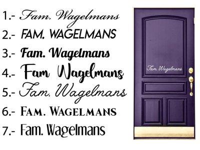 Tür-Aufkleber Familiennamen