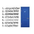 House Number Door Sticker