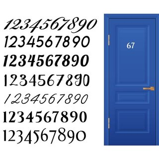 House Number Door Sticker