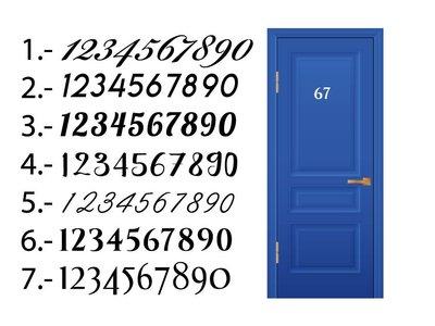 Hausnummer Tür-Aufkleber