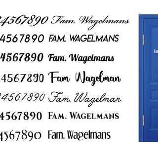 Deursticker Naam & Huisnummer