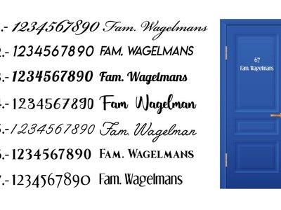 Tür-Aufkleber Name & Nummer