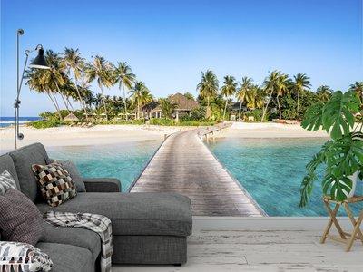 Fotobehang Strand Malediven