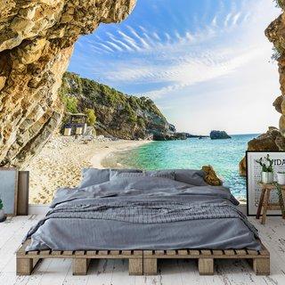 Selbstklebende Fototapete angepasst - Beach Corfu - Griechenland