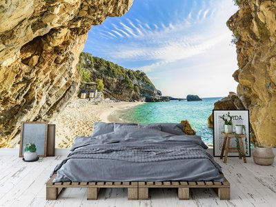 Wandtapete Strand Corfu