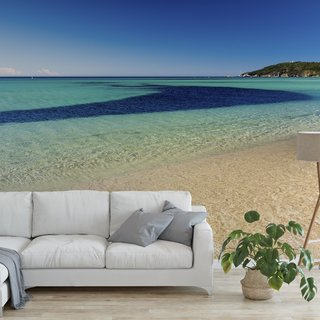 Selbstklebende Fototapete angepasst - Strand Saint Tropez - Frankreich