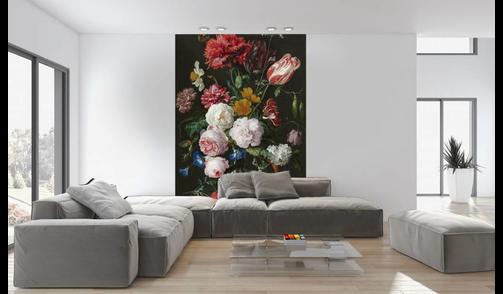 Self-adhesive photo wallpaper  - Still life with flowers in a glass vase - Jan Davidsz de Heem