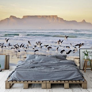 Zelfklevend fotobehang - Strand Kaapstad - Zuid Afrika