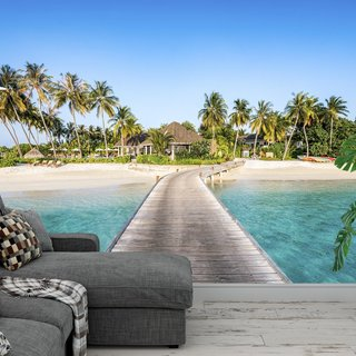 Zelfklevend fotobehang - Strand Malediven