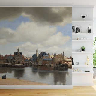 Self-adhesive photo wallpaper custom size - View of Delft, Johannes Vermeer
