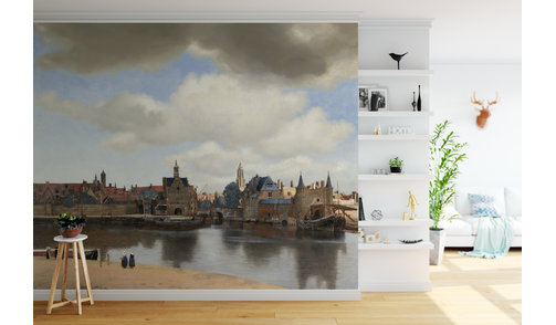 Zelfklevend fotobehang op maat - Gezicht op Delft, Johannes Vermeer