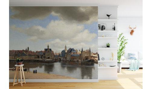 Zelfklevend fotobehang- Gezicht op Delft, Johannes Vermeer